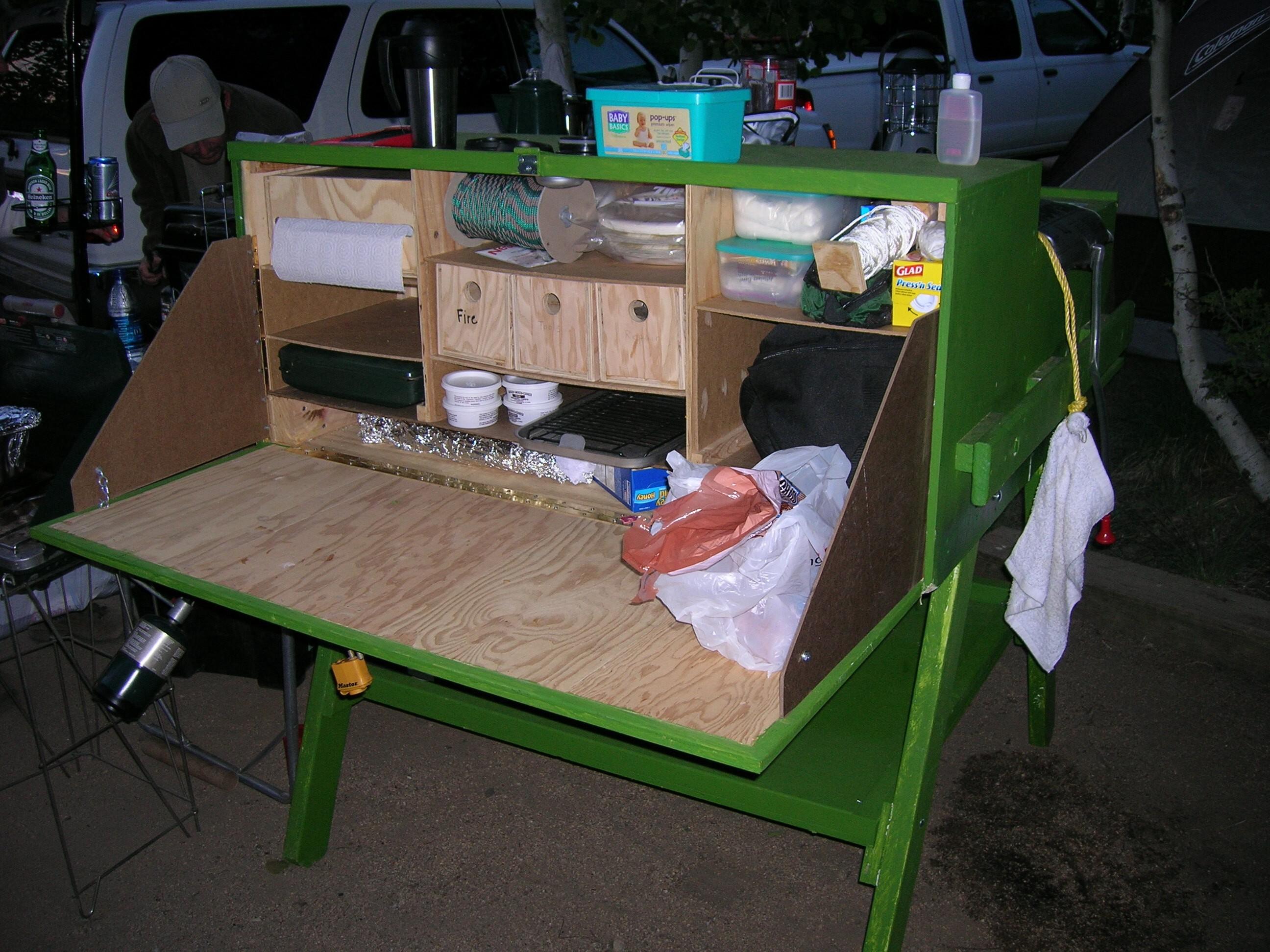 Portable Camp Kitchen Box Ideas